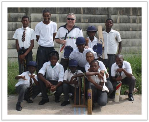 Mike with Ottawa School Kids